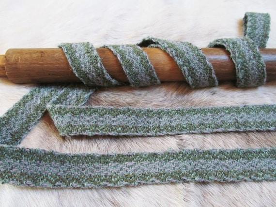Hand-woven Band PRICE Per METER Herringbone  Braid  Hand Made Tablet Weaving Viking Saxon ReenactmentEarly Medieval  Natural Wool LARP
