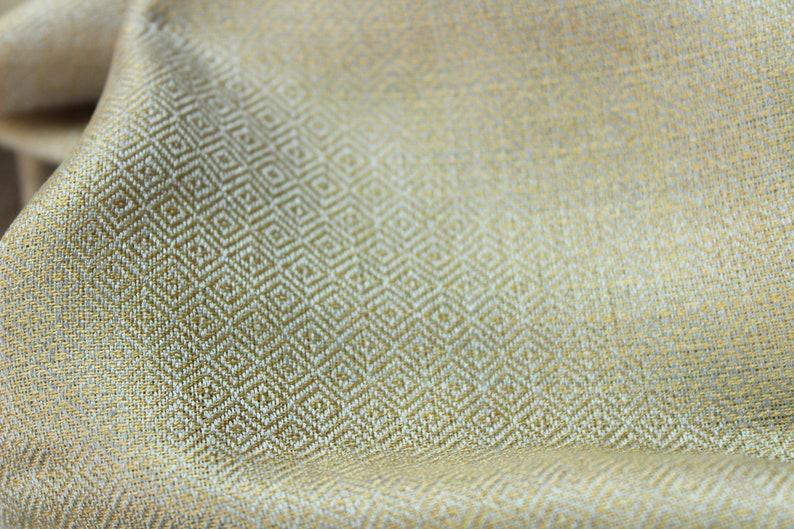 Hand-woven Silk Fabric Textile 100/% Silk Diamond Viking Reenactment historical hand made Yarn 1 m  112 cms