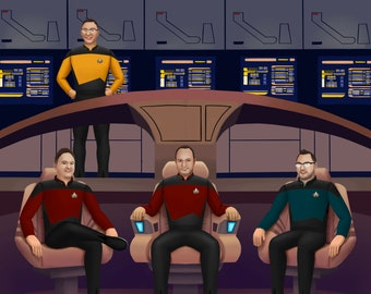 Personalised Star Trek Theme illustration - Digital Download