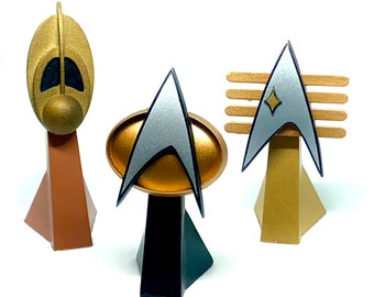 Display Stand for Star Trek Combadge Communicator with Magnet (BADGE NOT INCLUDED)
