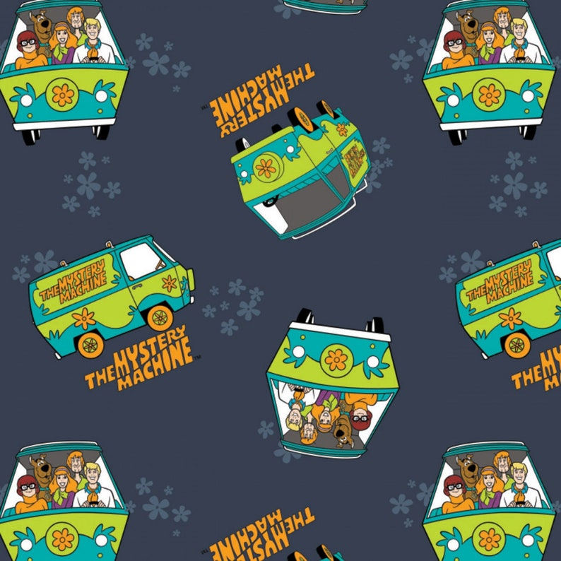 From Camelot Fabrics Shaggy Thelma Navy Scooby Doo Mystery Machine Daphne 23700303-2 Fred 100/% Cotton Quilt Cotton Mystery Machine