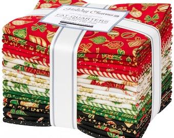 Fat Quarter, Holiday Colorstory, 20pcs/bundle, 100% Woven Cotton Fabric Bundle