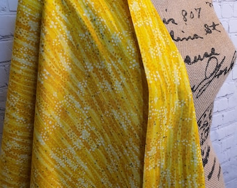 Sunbeam Dewdrop with Gold Metallic Accents, 100% Woven Cotton Fabric