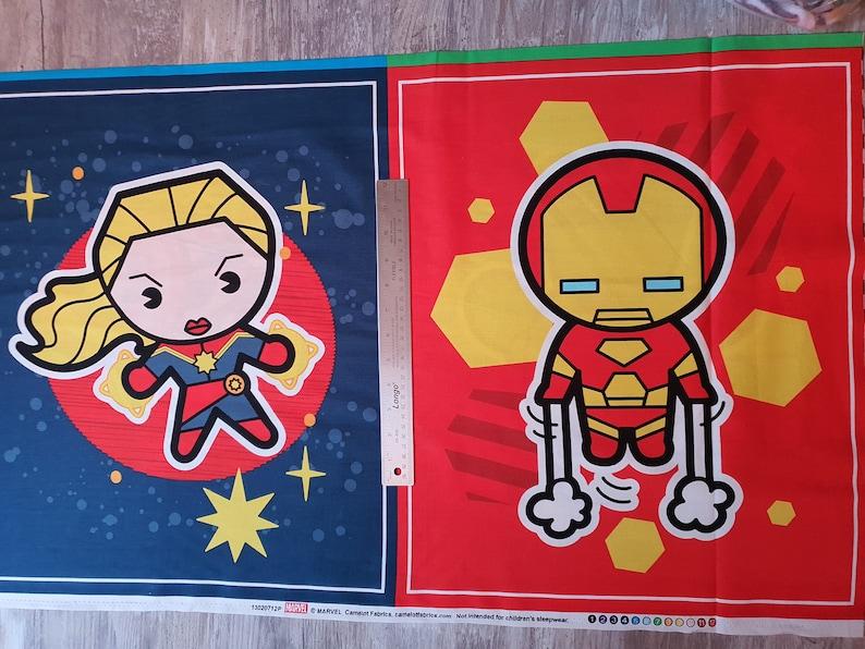 Iron Man Marvel Kawaii Captain America Camelot Fabrics Captain Marvel Marvel Super Heroes Panel 36 Hulk Cotton Fabric 13020712P-1