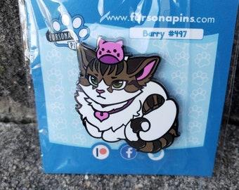 Barry Kitty Cat Fursona Enamel Pin