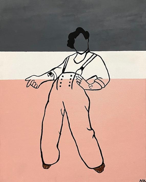 Harry Styles Fine Line Album Silhouette Painting Etsy