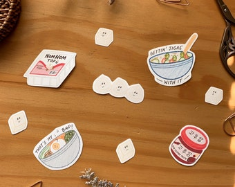 Korean Food Inspired (K-Foodie) Die Cut Sticker Set