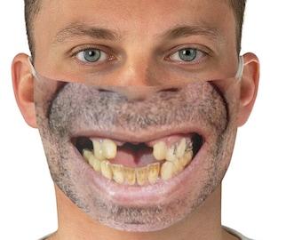 Funny face mask   Etsy