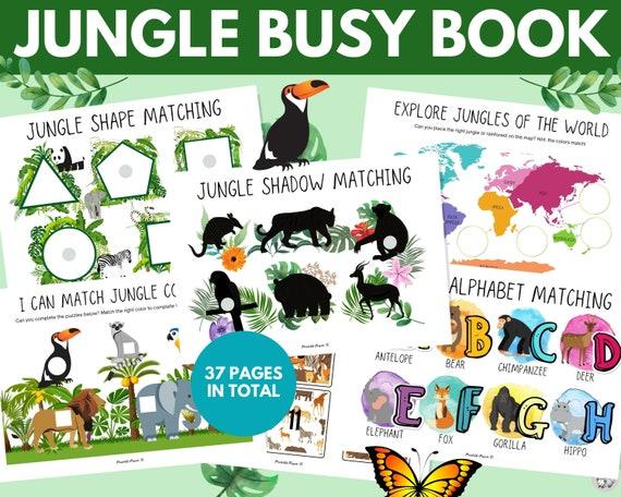Jungle Animal Busy Book Busy Book Printable Printable Busy