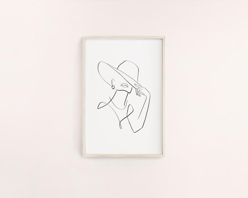 bedroom home decor minimal art printable art digital art abstract art woman and neutral shapes set of 2 art prints wall decor