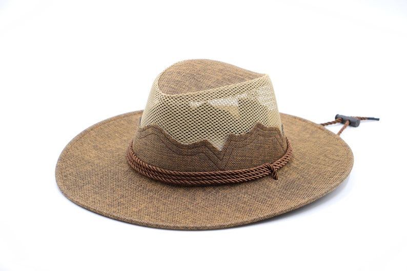 Camping Beach Hat Natural Mountain Top Hat Sturdy Box Shipping Terrain Gardening Hat Outdoor Light Breathable Hat Country Hat