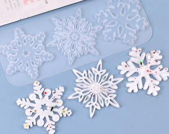 Snow Flakes Pendant Resin Mold, 3 Styles Christmas Tree Decoration Resin Mold, Hollow Design Pendant Mold, DIY Party Decoration, Resin Art
