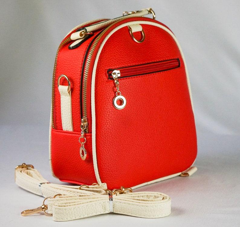 Sephlin Fashion Mini Designer Backpack Red WomenGirl