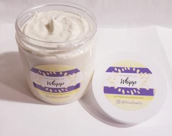 8oz Whipped Organic Shea Butter-Skin Protectant-Body Cream