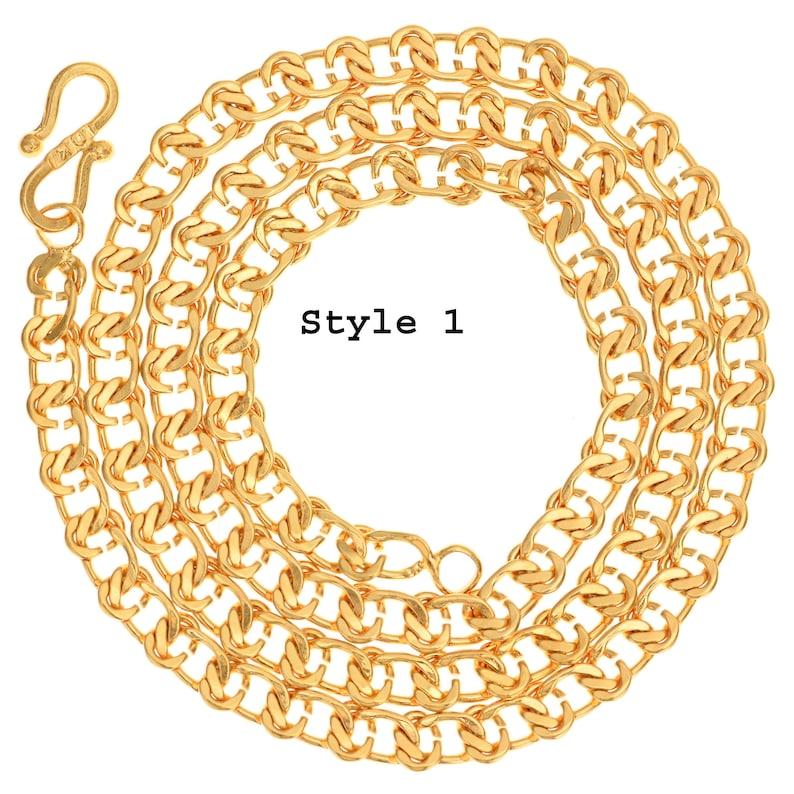 AanyaCentric 18k Gold Filled Trendy Fancy Stylish Mala Jewelry Neck Chain For Men Boys Women Girls