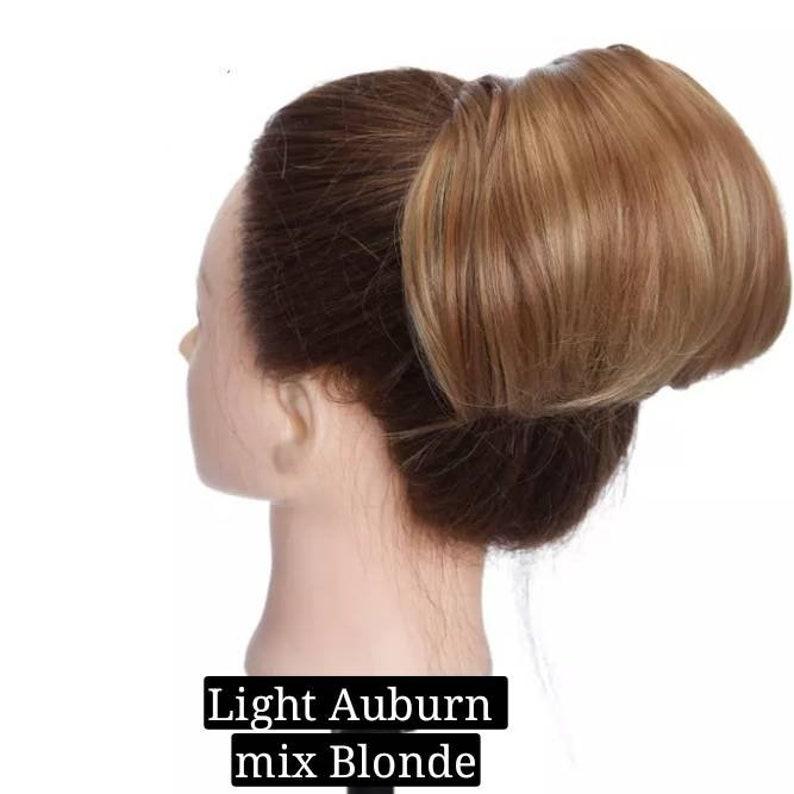 Hepburn style chignon hair clip in hair bun synthetic hairpiece for women