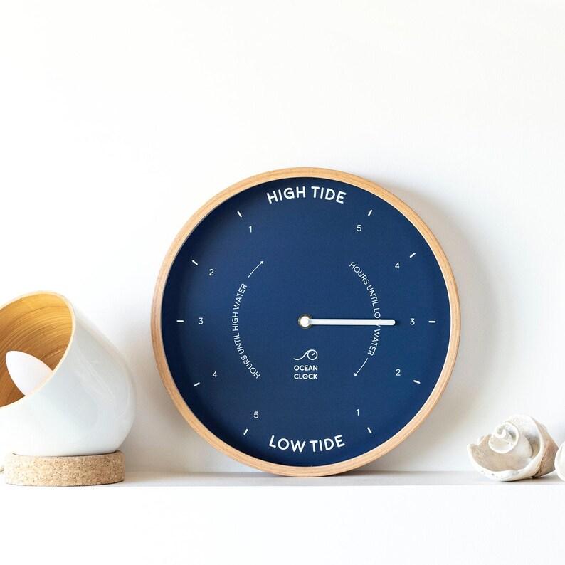 Navy blue tide Clock MARINE- Silent movement