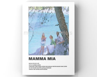 Mamma Mia minimal A6 movie poster