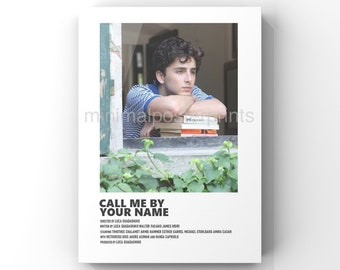Call Me By Your Name minimal A6 movie poster