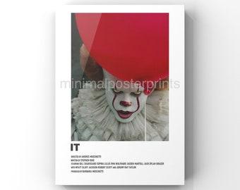 IT minimal A6 movie poster