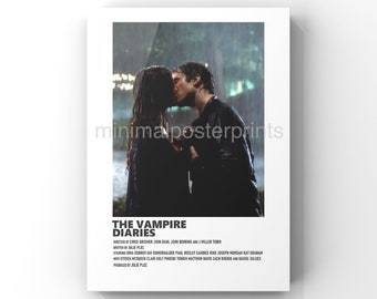 The Vampire Diaries minimal A6 poster