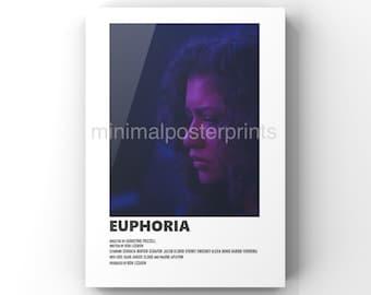 Euphoria minimal A6 poster