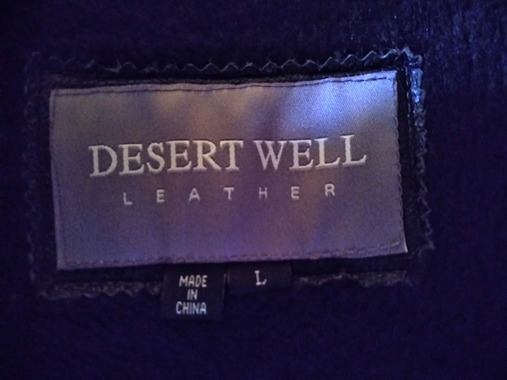 "Desert Well ""Speed Racing Club"" Authentic Leather… - image 3"