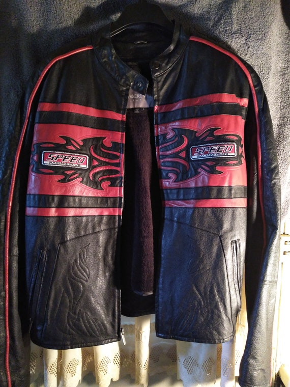 "Desert Well ""Speed Racing Club"" Authentic Leather… - image 1"