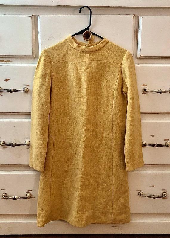 1960's Vintage Yellow Mod Dress