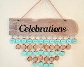 Birthday and celebrations calendar - Cornish driftwood - Birthdays & anniversary board - Wallhanging - Reminders - Gift for Mum UK