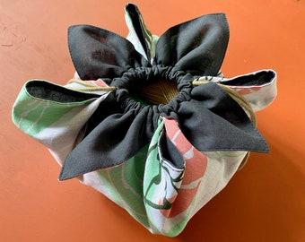 Drawstring Bag PATTERN, Flower Drawstring Pouch in 3 sizes, Japanese Bag, Cute Project Bag PDF Pattern, Yarn Storage Sack, Easy for Beginner