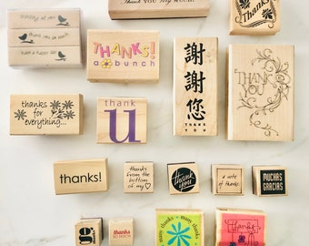 Thanks Stamps, Rubber Stamps, Thankful Stamps, Stamping, Scrapbooking Supplies, Paper Crafting, Thank You Stamps