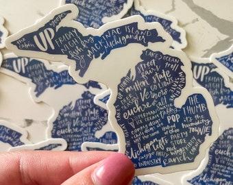 Michigan Sayings Sticker | Michigan State Decal | MI Laptop Sticker