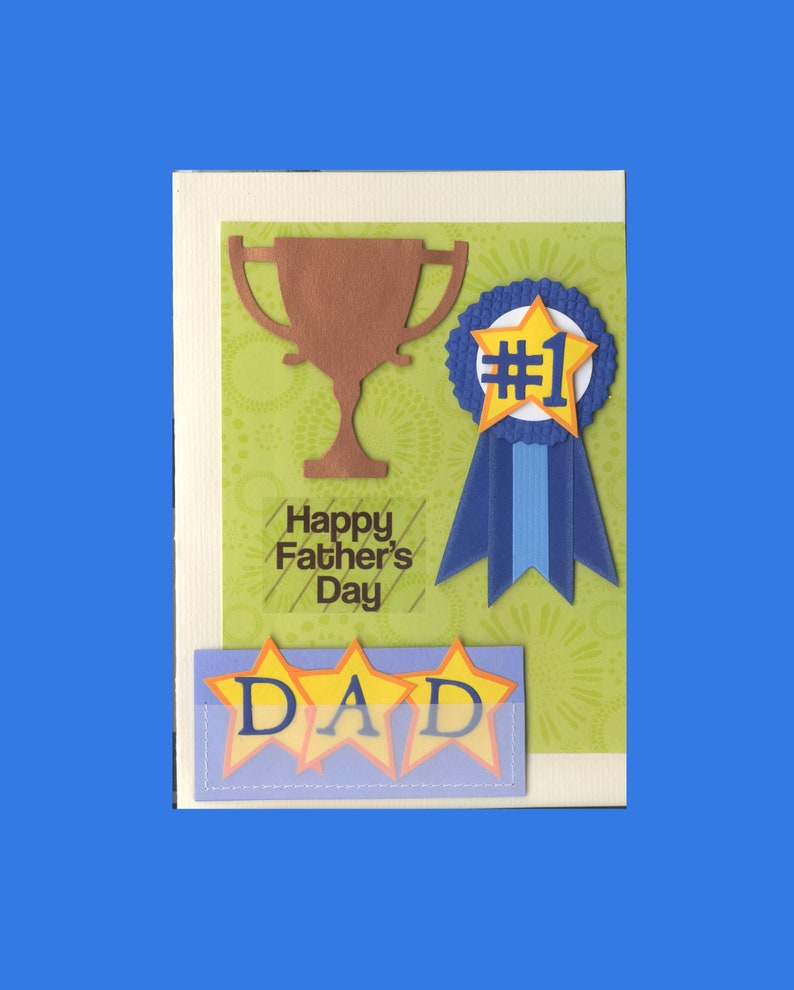 father's day greeting card number 1 dad handmade oneofa
