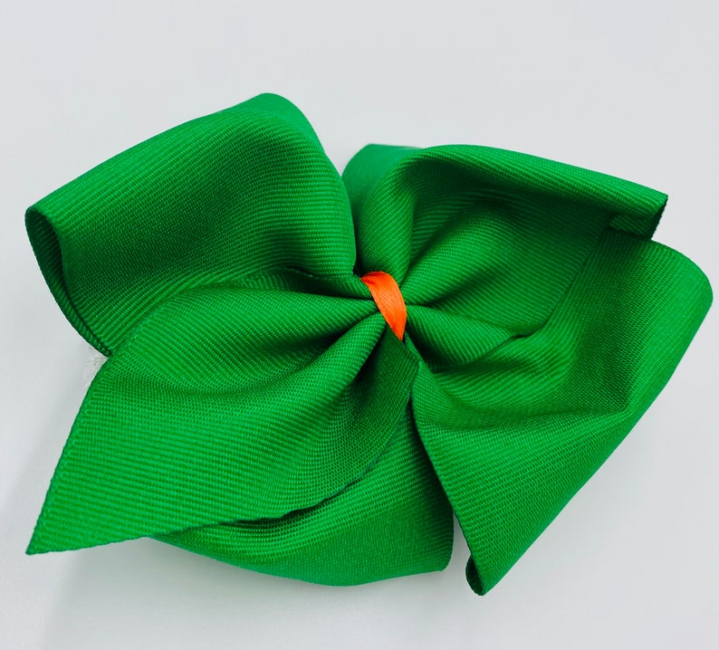Boutique Hairbow Big Hairbow Multi Colored Hairbow Girls Big Hairbow Green Hairbow Big Thanksgiving HairbowFall Hairbow
