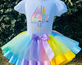 unicorn birthday outfit 3 year old