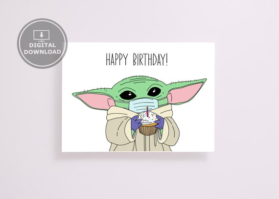 baby yoda birthday card For Special Ones Star Wars Fans