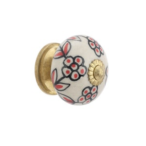 Unique Sparkling Spiral Cabinet Knobs or Drawer Pulls in Red /& White by Outrageous Knobs CCB368