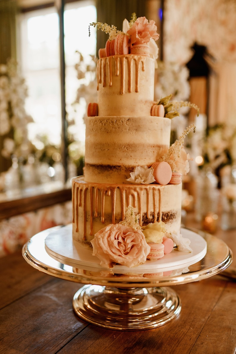 Small 3 tier semi naked Wedding cake and 30 x cakesicles