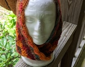 Cowl, Hand Crocheted- Red Heart Boutique Unforgettable Sunrise