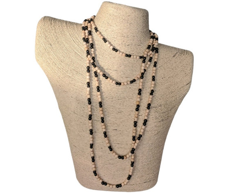 double strand versatile jewelry perfect for summer Fun and colorful. Tagua necklace different ways to wear it Extra long beaded necklace