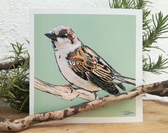 Sparrow Greeting Card   This Sparrow Greeting Card is perfect for Birthdays, Mother's Day, Wildlife lovers, Bird Watchers and any Occasion.