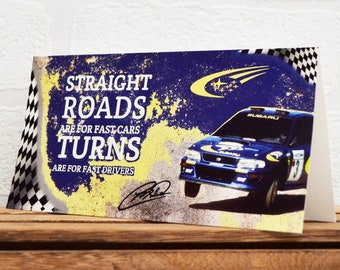 Greeting Cards | Colin McRae | Birthday Cards | Car Memorabilia | Driver Quotes | Cards | Special Occasions | Motorsport Cards |