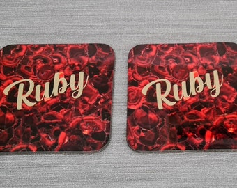 Ruby Anniversary Coasters | Coasters | Anniversary Gifts | Coasters | Dinnerware Sets | Table Setting | Ruby | Special Occasions