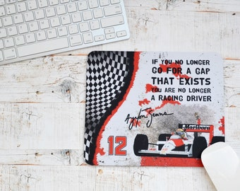 Mousemats Ayrton Senna Quote | Mugs | Birthday Gifts | F1 Gifts | Car Memorabilia | Car Enthusiasts | Motorsport Gifts | Office | F1 |