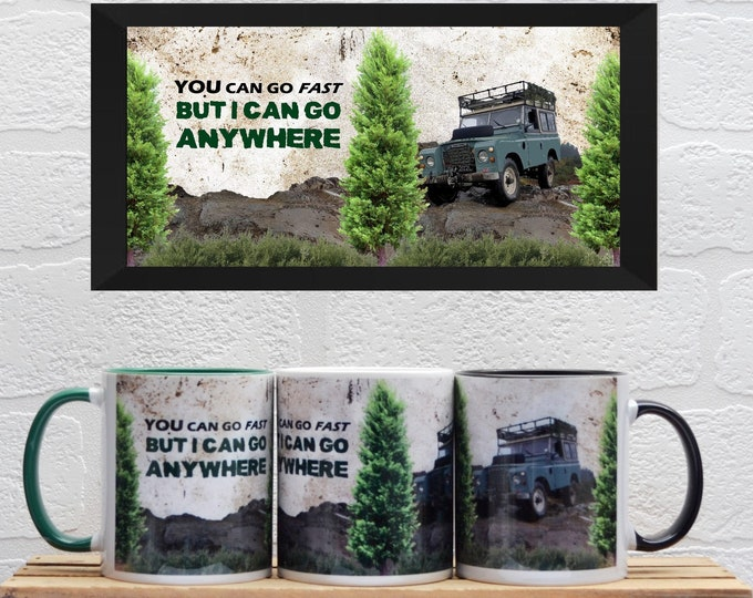 Featured listing image: Land Rover Mugs | Mugs | Birthday Gifts | Gifts | Car Memorabilia | Car Enthusiasts | Land Rover | Off Road | Land Rover Gifts