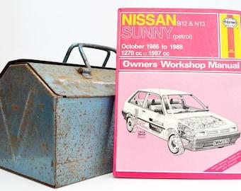 Haynes Nissan Owners Workshop Manual   Nissan Sunny Owners Manual   Hardback Book   Birthday Gift   Car Memorabilia   Car Manual   Gifts