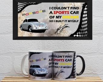 Mugs Dr Ferdinand Porsche Quote | Mugs | Birthday Gifts | Gifts | Porsche | Porsche 356 | Fathers Day | Porsche Mugs | Porsche Gifts |