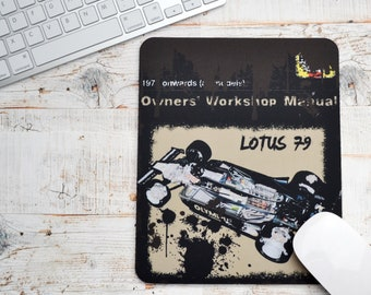Haynes Mousepads Lotus 79 | Mousepads | Birthday Gifts | Lotus Gifts | Car Memorabilia | Car Enthusiasts | Motorsport Gifts | Lotus F1