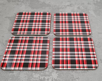 VW Golf Coasters | Coaster | Birthday Gifts | Dinnerware Sets | Table Setting | Volkswagen | VW Golf GTi | VW Seat Trim